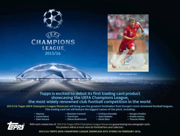 2015/16 TOPPS UEFA CHAMPIONS LEAGUE SHOWCASE SOCCER