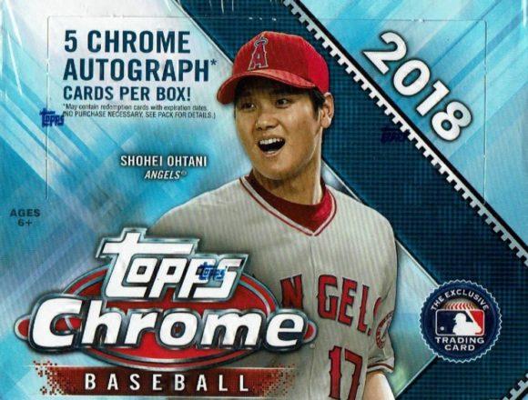 MLB 2018 TOPPS CHROME BASEBALL JUMBO