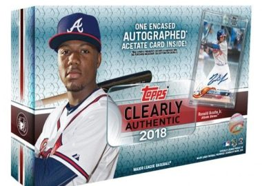 MLB 2018 TOPPS CLEARLY AUTHENTIC BASEBALL