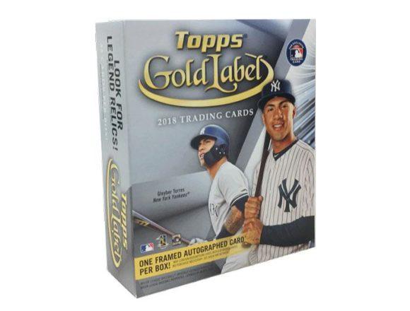 MLB 2018 TOPPS GOLD LABEL BASEBALL