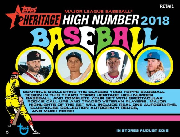 MLB 2018 TOPPS HERITAGE HIGH NUMBER HANGER