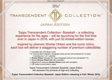 MLB 2018 TOPPS TRANSCENDENT COLLECTION JAPAN EDITION