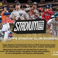 MLB 2018 TOPPS STADIUM CLUB BASEBALL GRAVITY FEED