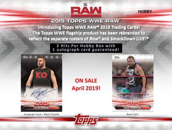 2019 TOPPS WWE RAW