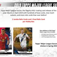 2019 TOPPS MLS(MAJOR LEAGUE SOCCER)