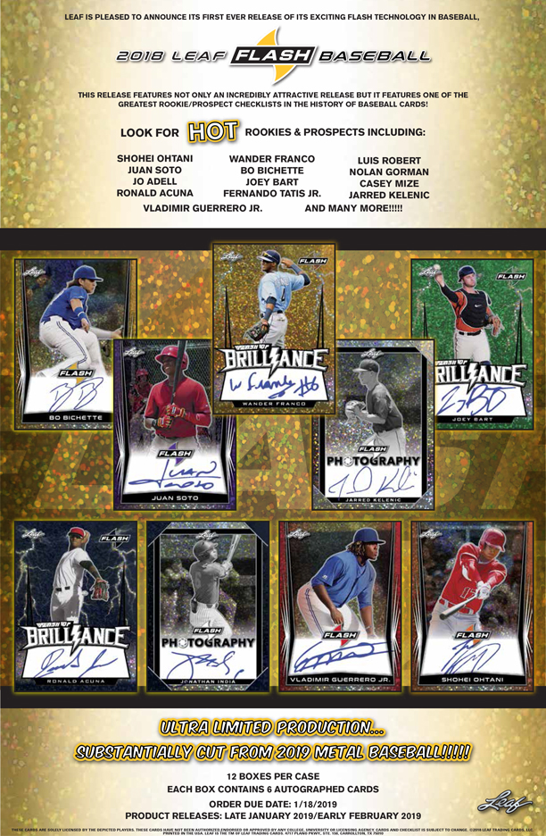 2018 LEAF FLASH BASEBALL