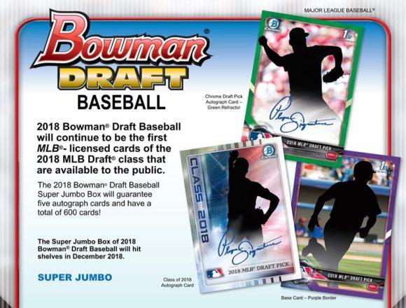 MLB 2018 BOWMAN DRAFT BASEBALL SUPER JUMBO