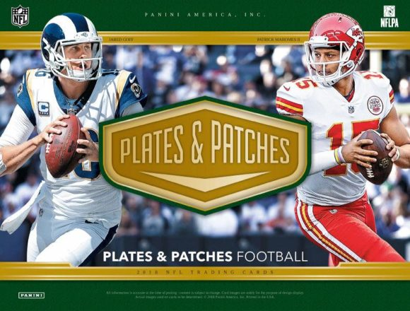 NFL 2018 PANINI PLATES & PATCHES FOOTBALL