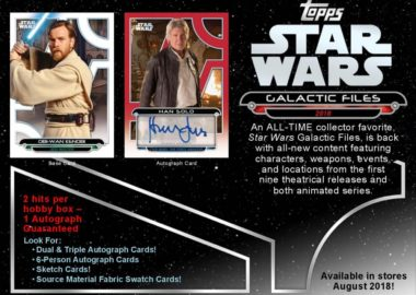 2018 TOPPS STAR WARS GALACTIC FILES
