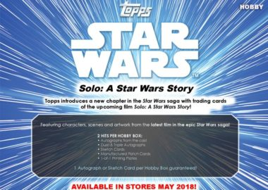 2018 TOPPS SOLO : A STAR WARS STORY
