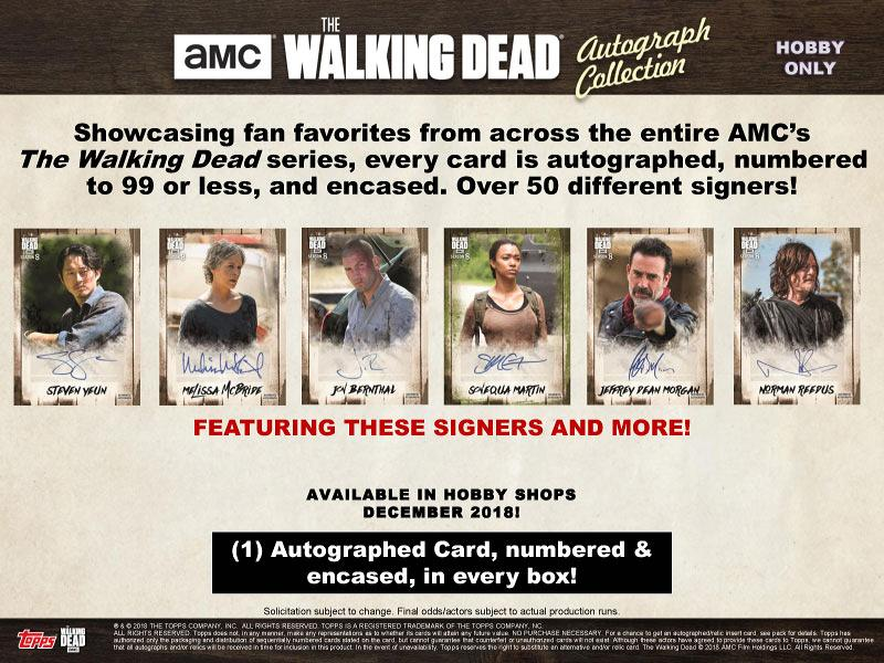 2018 TOPPS THE WALKING DEAD: AUTOGRAPH COLLECTION