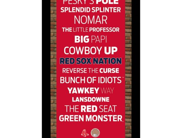 STEINER社 FRAMED MINI BOSTON RED SOX SUBWAY SIGN WALL ART WITH GAME-USED DIRT(9.5X16)(MLB AUTHENTICATED)