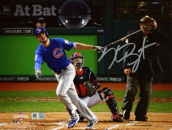 """Kris Bryant Chicago Cubs 2016 MLB World Series Champions Autographed 8"""" x 10"""" World Series Photograph[フレームなし]"""