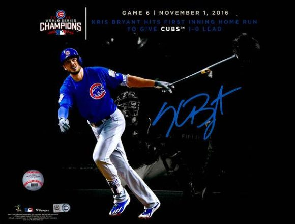 "Kris Bryant Chicago Cubs 2016 MLB World Series Champions Autographed 11"" x 14"" World Series Spotlight Photograph[フレームなし]"