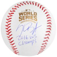 Kris Bryant Chicago Cubs 2016 MLB World Series Champions Autographed World Series Logo Baseball with 2016 WS Champs Inscription