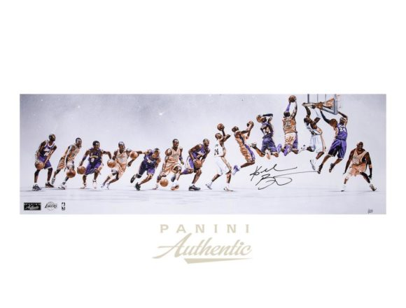 """Kobe Bryant Autographed 12x36 """"Through the Years"""" Photograph ~Limited Edition to 124~[フレーム付き]"""