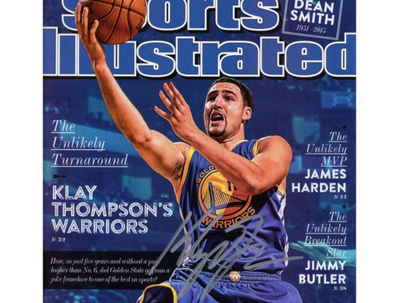 Autographed Golden State Warriors Klay Thompson Fanatics Authentic 2-23-15 Sports Illustrated Magazine