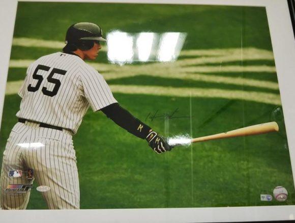 STEINER Hideki Matsui Yankees Home Jersey Horizontal 16×20 Photo