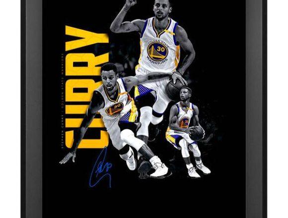 "Stephen Curry Golden State Warriors Autographed 20"" x 24"" Art Noir Photograph[フレームなし]"