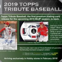 MLB 2019 TOPPS TRIBUTE BASEBALL